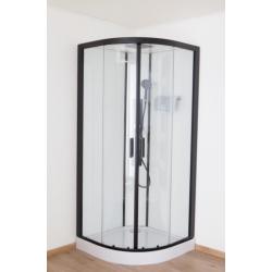 Banio Pedra Douchecabine 90x90x200 cm - Zwart/Wit