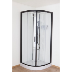Banio Pedra Douchecabine 90x90x224 cm - Zwart/Wit