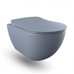 Banio hangtoilet rimless met rvs sproeier - Basalt (grijs) mat