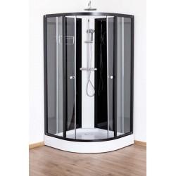 Cabine de douche Adamo 100x100x198/215 cm Zwart alu profielen