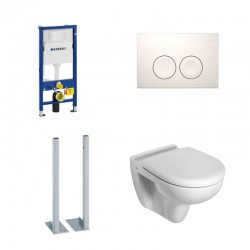 Geberit vrijstaande Promotie Set hang toilet Ideal standard met soft-close zitting en witte toets