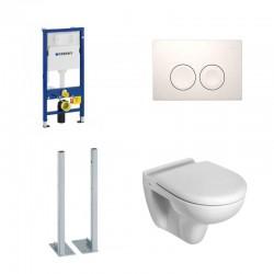 Geberit vrijstaande set hang toilet ideal standard