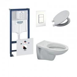 Pack hangwc ideal standard in het wit met soft-close zitting