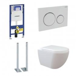 Geberit vrijstaande Pack met Design ophang wc RimOff, verborgen bevestiging met wc-zitting soft-close
