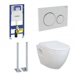 Geberit vrijstaande Pack met Design ophang wc met wc-zitting softclose
