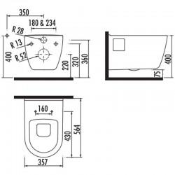 Pack Geberit met Creavit Creavit design ophang wc lang met wc zitting soft-close