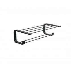 Gedy handdoekenhouder plank 50cm Outline mat zwart