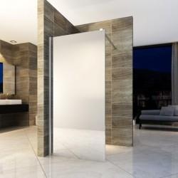 Banio inloopdouchewand met veiligheidglas 8mm 90x200cm - spiegelglas