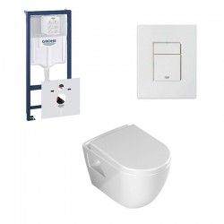Grohe Rapid SL hangtoilet pack Banio design met soft-close zitting en witte bedieningspaneel