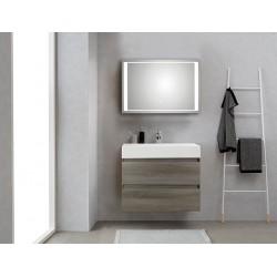 Pelipal badkamermeubel met luxe spiegel Bali80 - grafiet