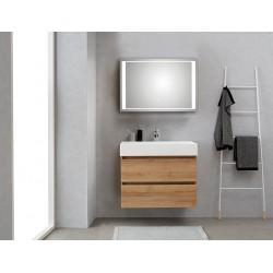Pelipal badkamermeubel met luxe spiegel Bali80 - licht eiken