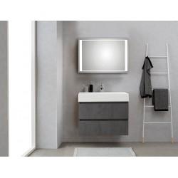 Pelipal badkamermeubel met luxe spiegel Bali80 - donkergrijs