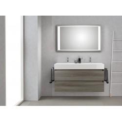 Pelipal badkamermeubel met luxe spiegel Bali120 - grafiet