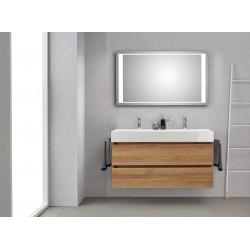 Pelipal badkamermeubel met luxe spiegel Bali120 - licht eiken