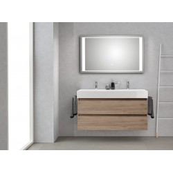 Pelipal badkamermeubel met luxe spiegel Bali120 - terra eiken