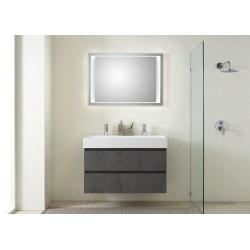 Pelipal badkamermeubel met luxe spiegel Bali101 - donkergrijs