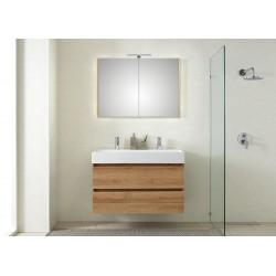 Pelipal badkamermeubel met luxe spiegel Bali101 - licht eiken