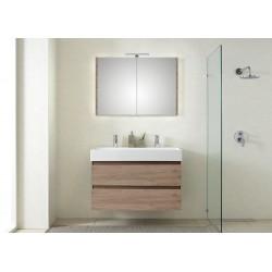 Pelipal badkamermeubel met luxe spiegel Bali101 - terra eiken