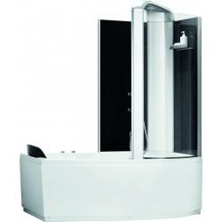 Ligbad met douche Alexie 150 cm Recht