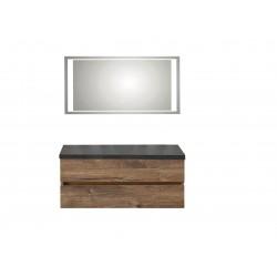 copy of Pelipal badkamermeubel met luxe spiegel en zonder wastafel Cento120 - ribbeck eiken