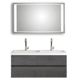 copy of Pelipal badkamermeubel met luxe spiegel Cubic120 - grafiet