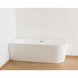 Banio halfvrijstaand bad Bogota 180x80x58cm - links hoek blinkend wit
