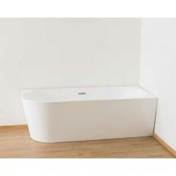 Banio halfvrijstaand bad Bogota 180x80x58cm - rechts hoek blinkend wit