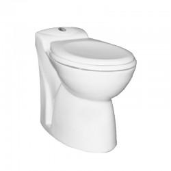 WC met ingebouwde fecaliënvermaler SFA met soft-close zitting en electronische touch-bediening