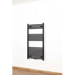 Handdoekradiator design Dori enkel 120x60cm mat zwart 524watt