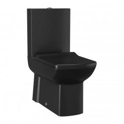 Banio Lara zwart mat staande wc kompleet,   muur/onder-uitgang