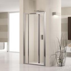 Novellini  lunes s 90 vouwdeur  verstelbaar van  90-96 cm helder glas   profielen in wit