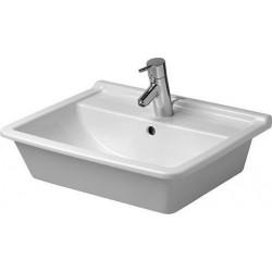 LAVABO A ENCASTRER DURAVIT STARCK 3 56 - 46 o CM blanc avec trou de robinet et trop-plein